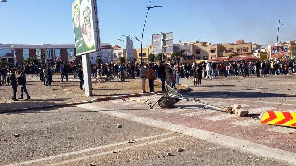 إصابات وخسائر مادية في مواجهات بين طلبة وسكان حي مجاور لجامعة محمد الأول بوجدة