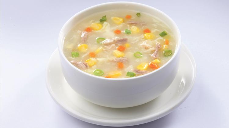حساء الدجاج بالكريما