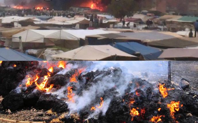 إصابة حوالي 25 شخصا باختناق جراء حريق مهول بالسوق الأسبوعي بكرسيف