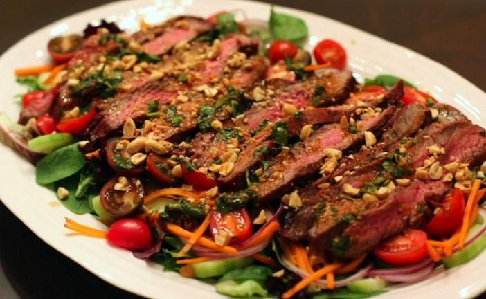 شرائح اللحم المتبلة