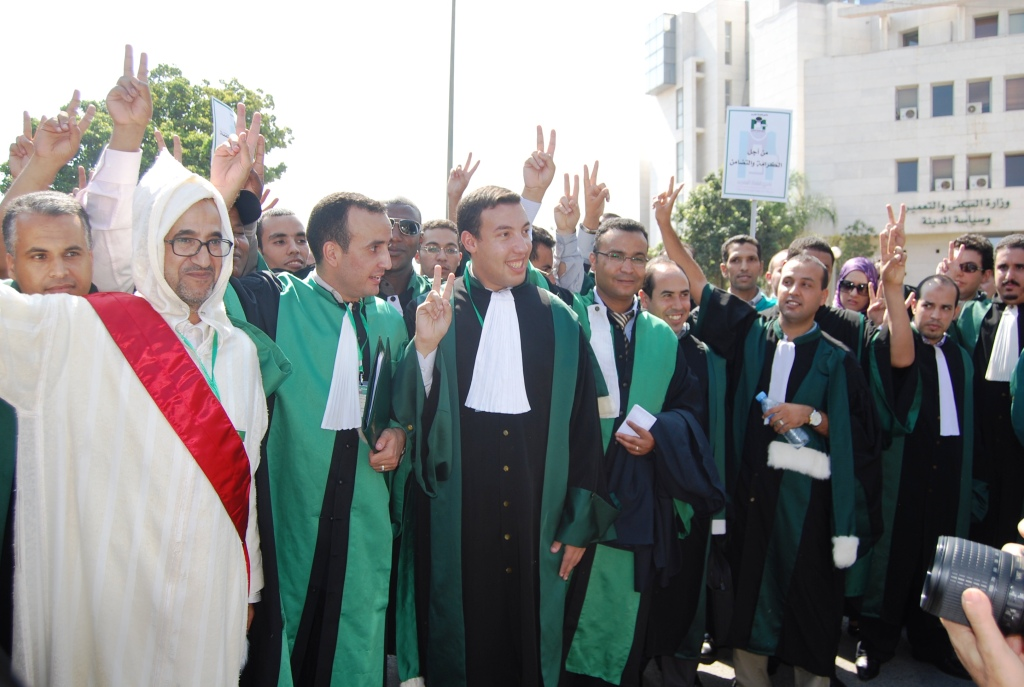 القضاة يخرجون للشارع طلبا لاستقلال السلطة القضائية