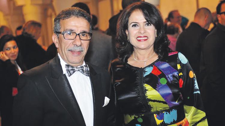 خديجة أسد رفقة زوجها سعد الله عزيز