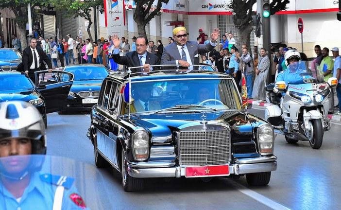 صور.الملك محمد السادس يستقبل فرانسوا هولاند في طنجة