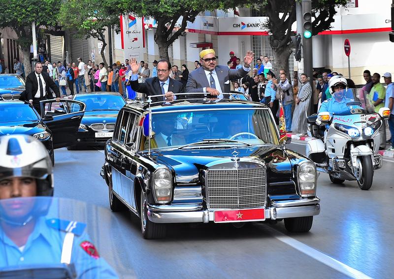 الملك محمد السادس يلقي فرانسوا هولاند غدا بالإيليزيه