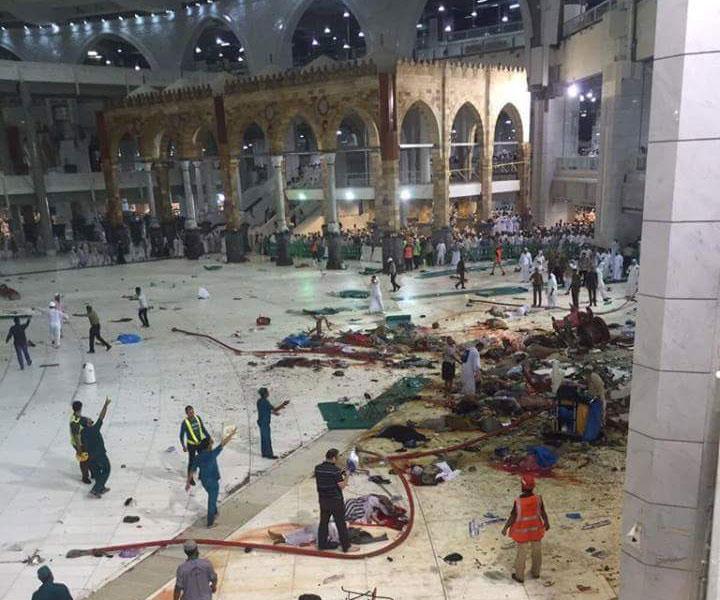 فاجعة الحرم …62 قتيل و30 جريحا حصيلة سقوط رافعة بالحرم المكي