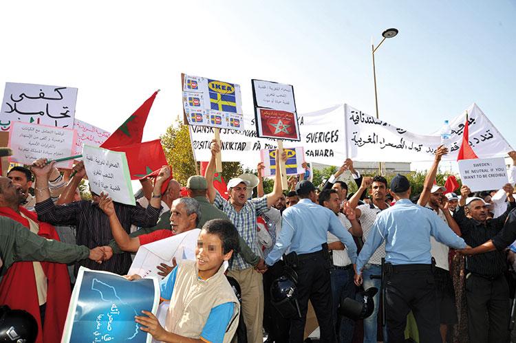 40 ألف مغربي يحتجون قبالة سفارة السويد ضد تحرشات حكومة ستوكهولم