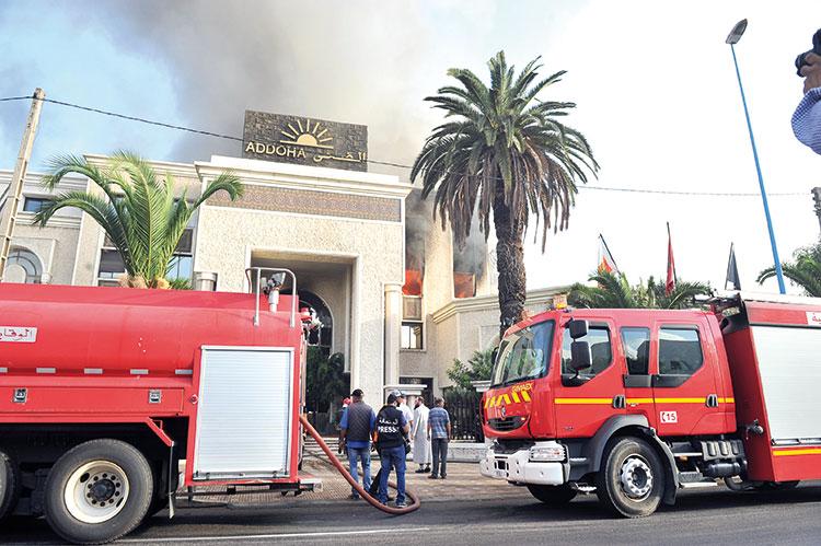 هذه تفاصيل الحريق بمقر مجموعة «الضحى» والذي أتى على وثائق ومستندات بالشركة