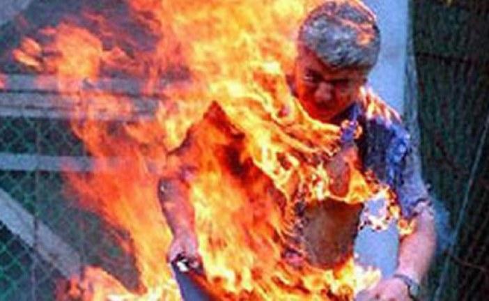 شاب بتطوان يضرم النار في جسده بعدما طعن شقيقه