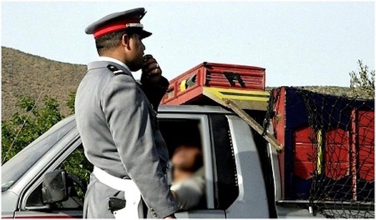 درك برشيد يستعمل السلاح الناري لإيقاف متهم بسرقة مستعملي الطريق السيار