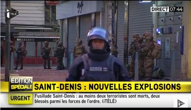"""مقتل اثنين من المشتبه بهم داخل شقة محاصرة ضاحية """"سان دوني """" بباريس"""