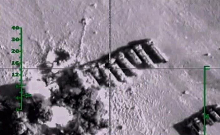 """المقاتلات الروسية تستهدف صهاريج لنقل النفط تابعة لـ""""داعش"""""""