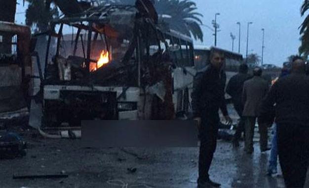 انفجار مروع لحافلة بالعاصمة التونسية وسقوط عدد كبير من القتلى