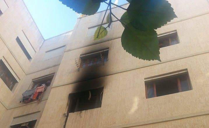 حريق مهول ببيت مفتش حزب الاستقلال بتطوان