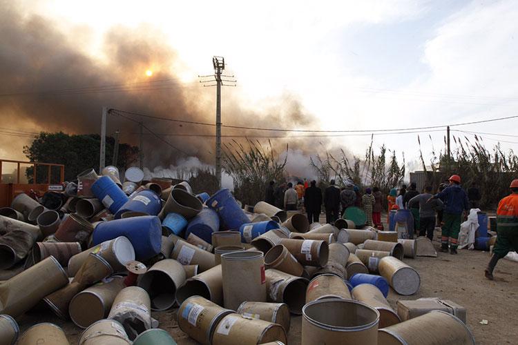 """حريق في """"شلالات"""" – المحمدية"""