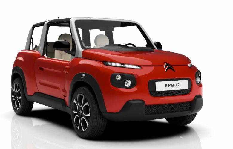 سيتروين تكشف عن السيارة الكهربائية المكشوفة E-Mehari الجديدة