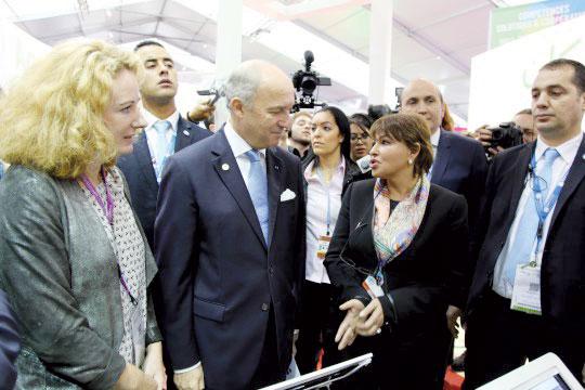 المرشحة السابقة للرئاسة الفرنسية في الرواق المغربي بقمة المناخ