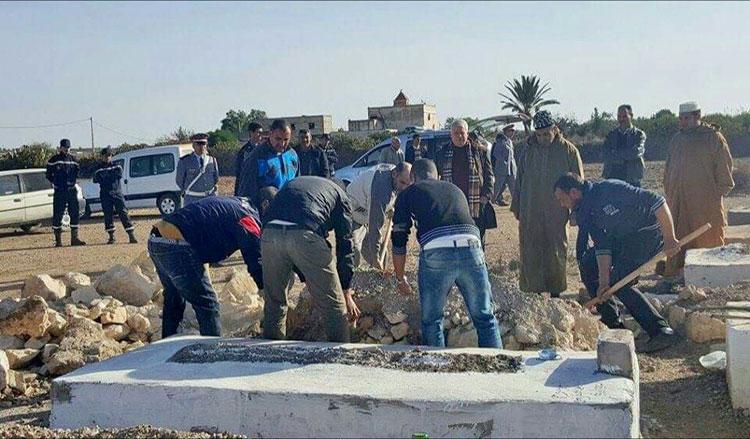 استخراج جثة «عروس» من القبر بسطات لإخضاعها للتشريح الثلاثي