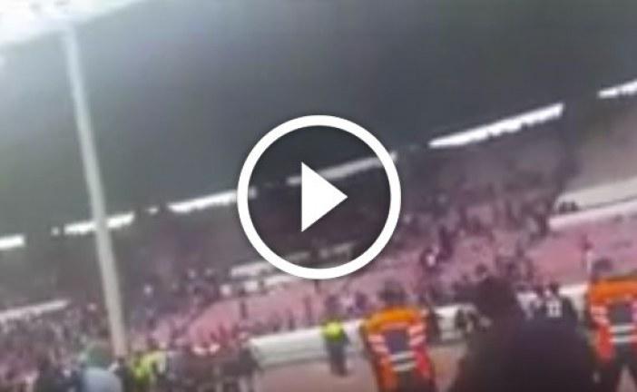 شغب بملعب محمد الخامس بعد مباراة الديربي