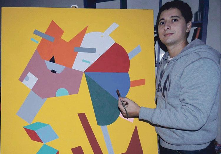 مروان طريشين يعرض لوحاته الفنية بالدار البيضاء