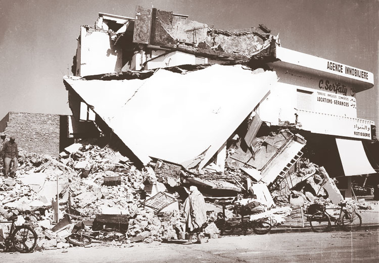 مواقف طريفة وسط أنقاض زلزال أكادير المدمر