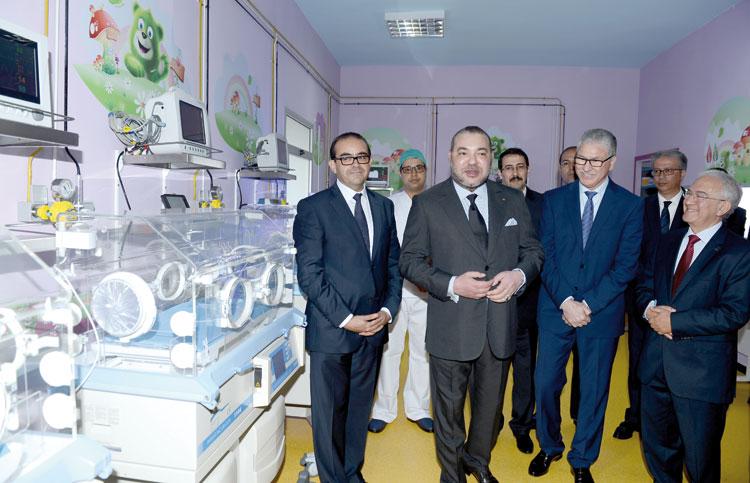 الملك محمد السادس يدشن مرافق جديدة بمستشفى ابن رشد بالبيضاء