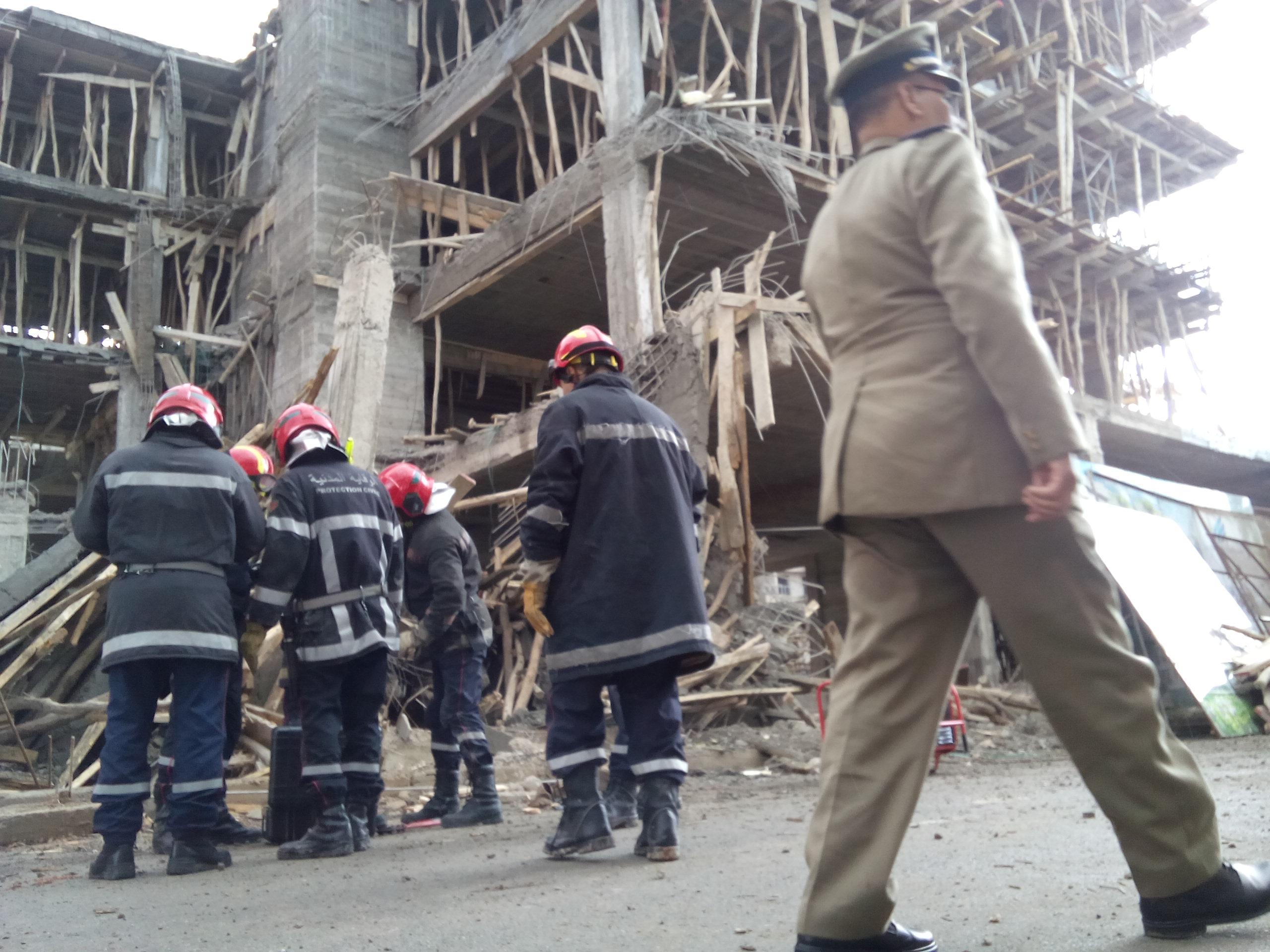 إصابات في انهيار عمارة من ثلاث طوابق بالدارالبيضاء