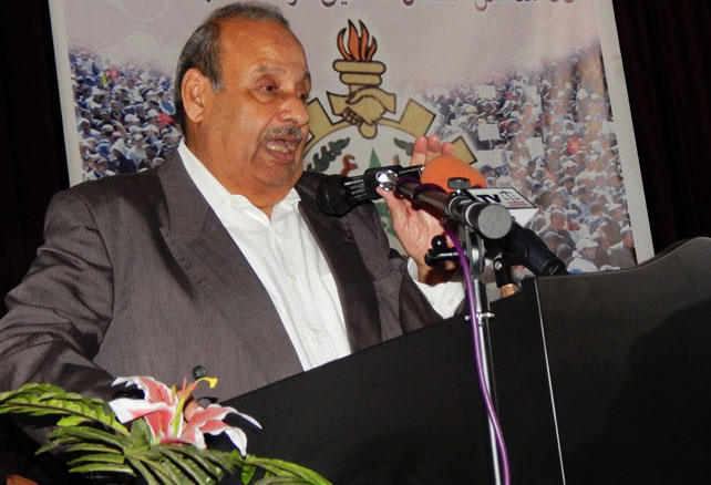 نقل زعيم الذراع النقابي لحزب الاستقلال للمستشفى العسكري بعد إصابته بجلطة دماغية