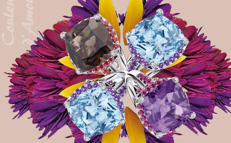 مجوهرات مفعمة بالحياة والألوان