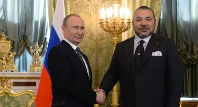 فلاديمير بوتين يستقبل الملك محمد السادس في قصر الكرملين