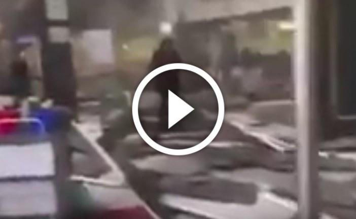 شاهد مطار بروكسل بعد الهجوم الانتحاري و الإرهابي