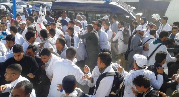 الأمن يتدخل لفض اعتصام الأساتذة المتدربين بمركز العرفان