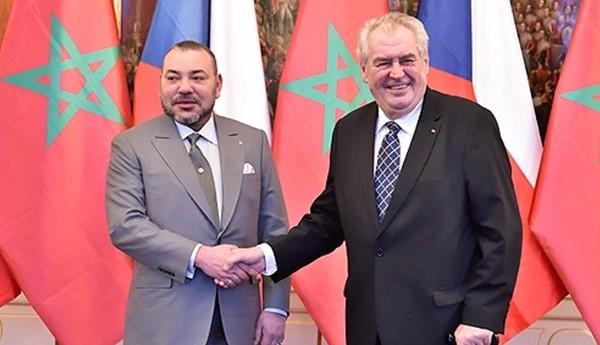 الملك يجري مباحثات رسمية مع الرئيس التشيكي