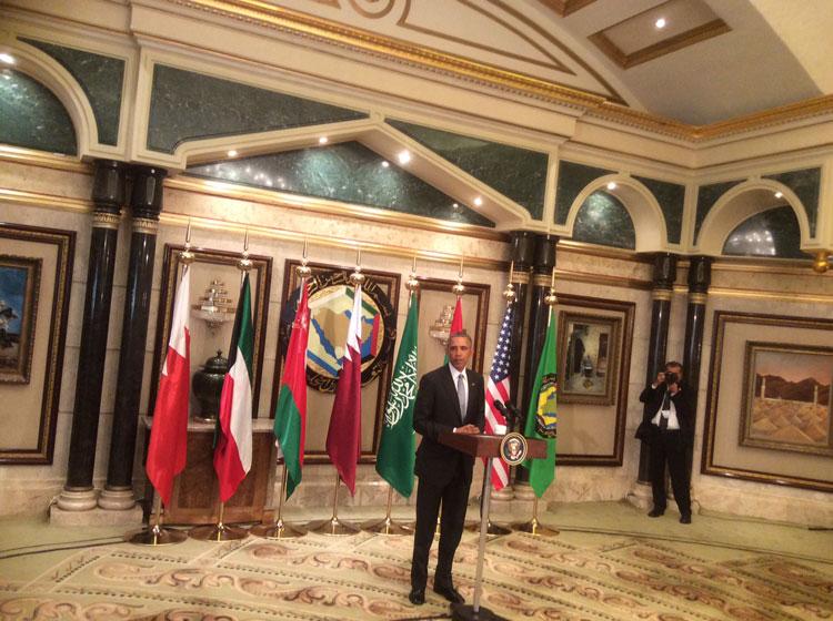 أوباما يعلن عن إقامة نظام دفاع صاروخي مشترك بالخليج ويدعو إلى حل سلمي بسوريا