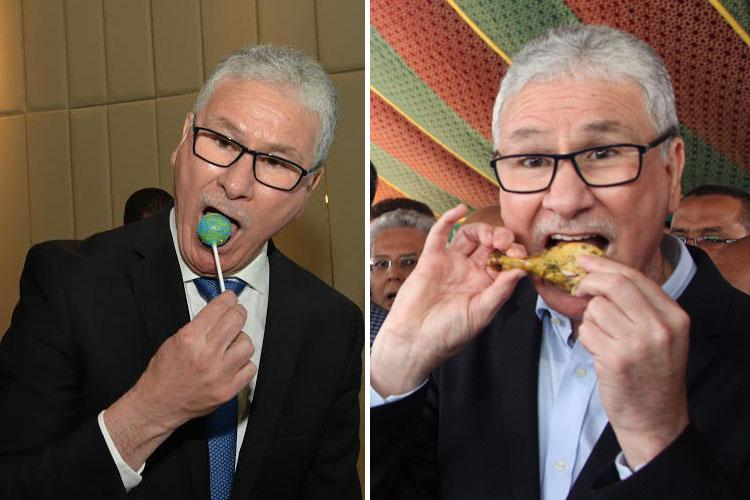 """الوزير الوكال.. وزير الصحة ظهر خلال 24 ساعة يلتهم أفخاذ الدجاج و""""يلحس مصاصة بيو"""""""