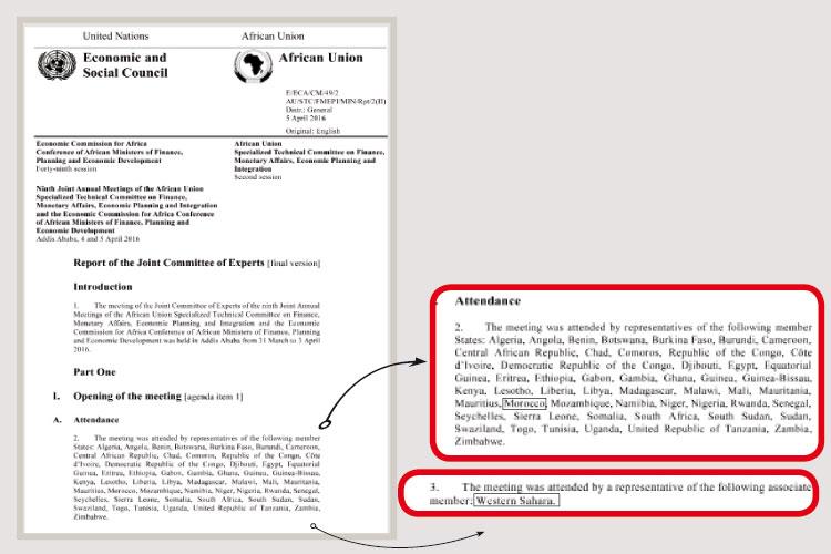 الاتحاد الإفريقي يضمن العضوية للجمهورية الوهمية في لجنة تابعة للأمم المتحدة
