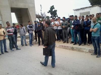 احتجاجات ضد إلغاء مباراة للتوظيف بجماعة اكزناية بطنجة