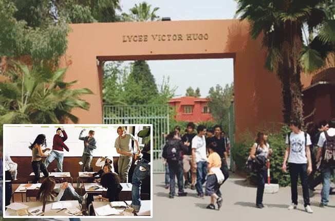 """""""تحقيق"""" وعقاب جماعي لعشرات التلاميذ بعد رشق أستاذ بالغائط بمدرسة فرانكفونية بمراكش"""