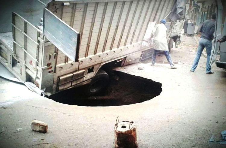 انهيار جزء من الطريق العام يكشف هشاشة البنية التحتية بتطوان