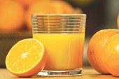 عصير البسكويت والبرتقال