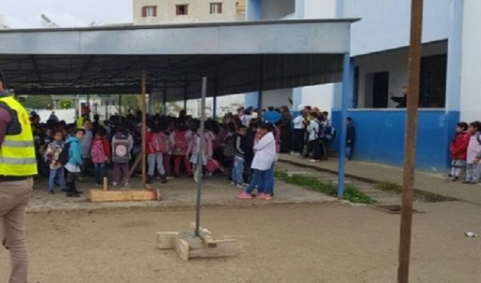 احتجاجات بطنجة ضد تحويل ساحة مدرسة ابتدائية إلى سوق