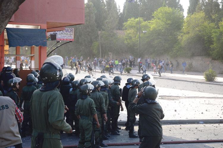 إصابة طلبة ورجال أمن في مواجهات بالحي الجامعي بمراكش
