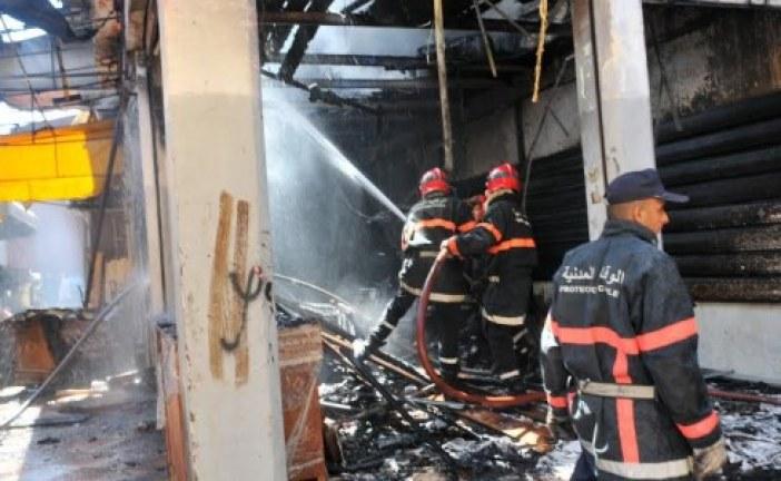 وقفة احتجاجية لضحايا حريق «قيسارية ألزاس» في البيضاء