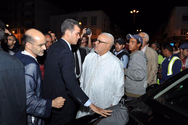 بنكيران «يقتحم» مقر الاتحاد الاشتراكي بالقوة ويقول من داخله إن حزبه سيأتي أولا في الانتخابات