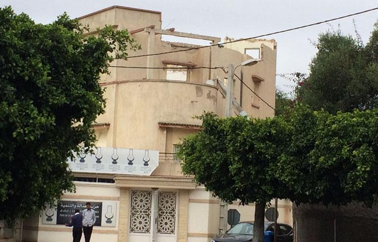 والي الرباط يوقف البناء العشوائي بمقر نقابة حزب العدالة والتنمية
