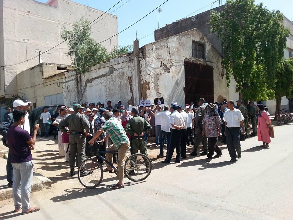 احتجاجات بالخميسات بسبب غلاء فواتير الكهرباء والماء