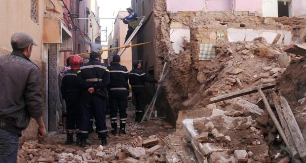 مصرع طفلين جراء انهيار أحد المنازل الآيلة للسقوط بمراكش