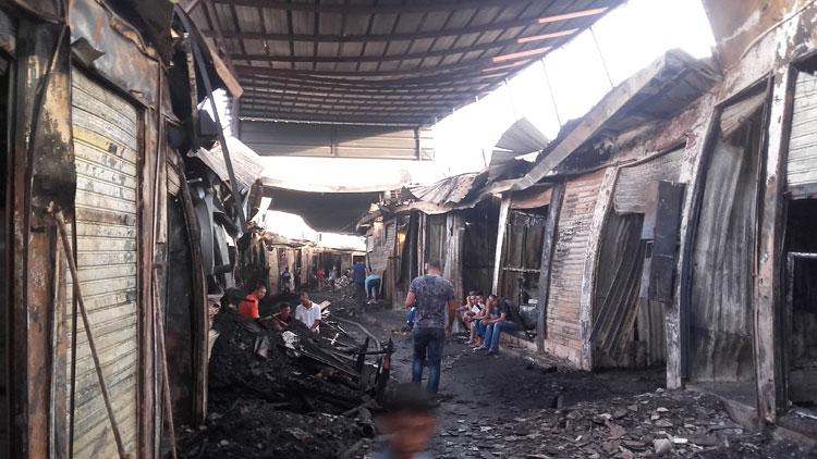 أزيد من 500 محل بسوق «كسبارطا» تضرر من الحريق
