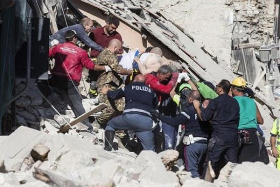 120 قتيلا في زلزال بقوة 6 درجات على سلم ريشتر ضرب إيطاليا