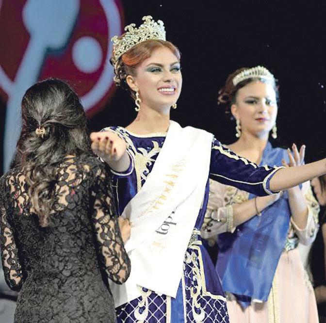 ملكة جمال مغربية:  «أنا حزينة لأن كلبي لم يحضر حفل تتويجي»