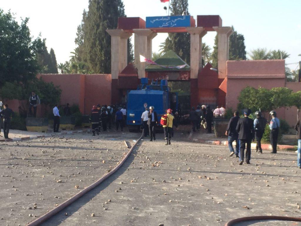 مثول الطلبة المعتقلين على خلفية أحداث الحي الجامعي أمام جنايات مراكش